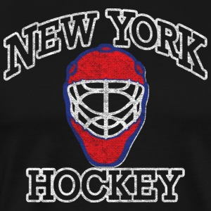 New York Goalie Hockey Mask Hoodies - Men's Premium T-Shirt
