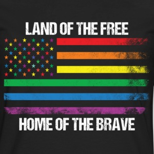 Land Of The Free Home Of The Brave T-Shirts - Men's Premium Long Sleeve T-Shirt