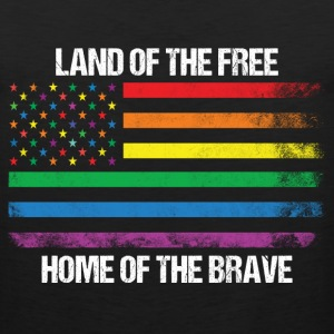 Land Of The Free Home Of The Brave T-Shirts - Men's Premium Tank