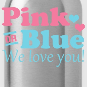Pink or Blue We Love You Women's T-Shirts - Water Bottle
