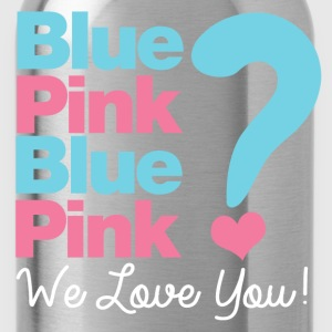 Blue or Pink We Love You T-Shirts - Water Bottle