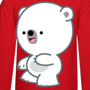 Prankish Cartoon Polar Bear Cub- Cheerful Madness Hoodies - Crewneck Sweatshirt
