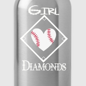 Girls Love Diamonds - Water Bottle