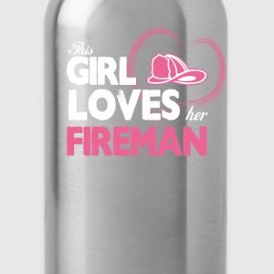 Fireman Lover - Water Bottle