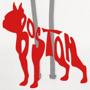 Boston Terrier T-Shirts - Contrast Hoodie