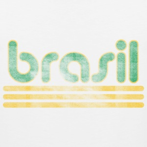 Brasil Font Distressed  T-Shirts - Men's Premium Tank