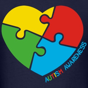Autism Awareness Heart - Men's T-Shirt