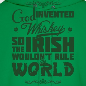 God Invented Whiskey Green - Men's Hoodie