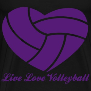 Live Love Volleyball with Volleyball Heart Above Bags & backpacks - Men's Premium T-Shirt