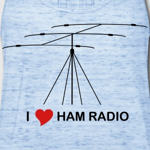 I love hamradio - Women's Flowy Tank Top by Bella