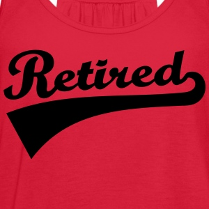 Retired Women's T-Shirts - Women's Flowy Tank Top by Bella
