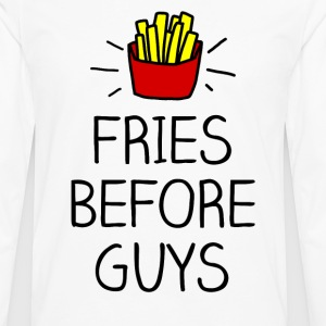fries before guys color Women's T-Shirts - Men's Premium Long Sleeve T-Shirt