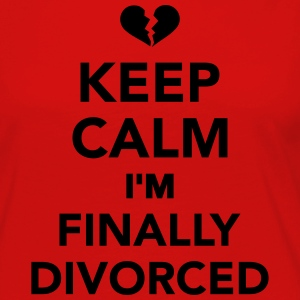 Keep calm I'm finally divorced Kids' Shirts - Women's Premium Long Sleeve T-Shirt
