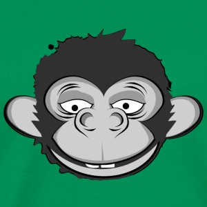 a smiling monkey face Hoodies - Men's Premium T-Shirt