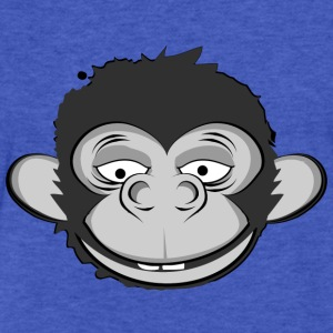 a smiling monkey face Sweatshirts - Fitted Cotton/Poly T-Shirt by Next Level