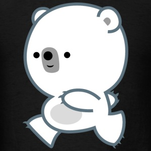 Cute Lively Polar Bear Cub by Cheerful Madness Caps - Men's T-Shirt