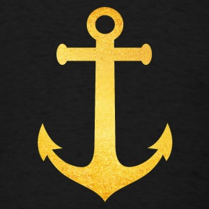 Cool Hipster Anchor (Golden Beach / beach - style) Tanks - Men's T-Shirt