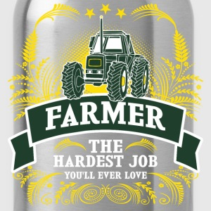 Farmer The Hardest Job You Will Ever Love - Water Bottle