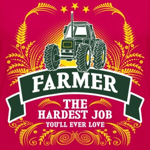 Farmer The Hardest Job You Will Ever Love - Women's Premium Long Sleeve T-Shirt