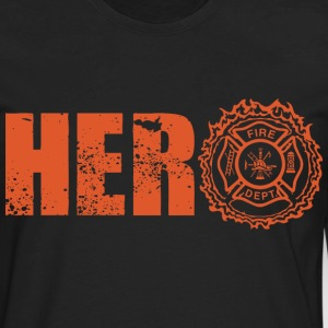 Hero Firefighter - Men's Premium Long Sleeve T-Shirt