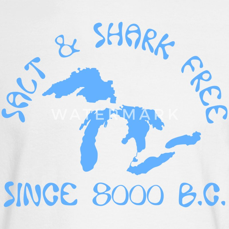Michigan Salt and Shark Free Great Lakes Long Sleeve Shirts - Men's Long Sleeve T-Shirt