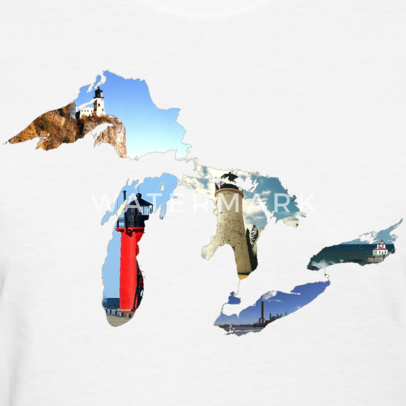 Michigan Great Lakes Lighthouses  Women's T-Shirts - Women's T-Shirt