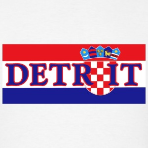 Detroit Croatian Croatia Flag Pride Hoodies - Men's T-Shirt