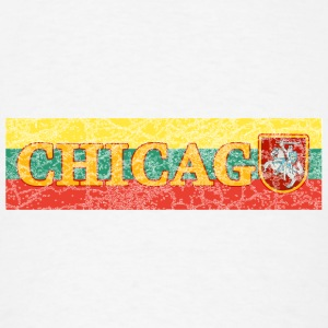 Chicago Lithuanian Lithuania Love Flag  Long Sleeve Shirts - Men's T-Shirt