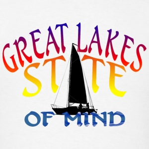 Great Lakes State of Mind Hoodies - Men's T-Shirt