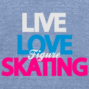 Love Figure Skating Tanks - Unisex Tri-Blend T-Shirt by American Apparel