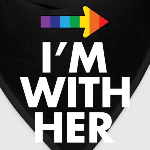 I Am With Her - I Am With Him Gay Couples Design Women's T-Shirts - Bandana