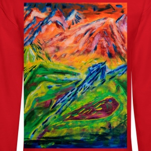 Realm of Fire Painting by Jason Gallant Women's T-Shirts - Crewneck Sweatshirt