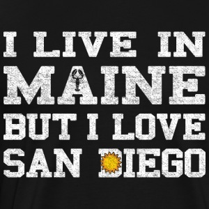 Live Maine Love San Diego California Long Sleeve Shirts - Men's Premium T-Shirt