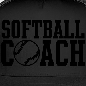 Softball Coach Women's T-Shirts - Trucker Cap