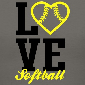 Love Softball Tanks - Women's V-Neck T-Shirt