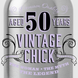 50th Vintage Chick - Water Bottle