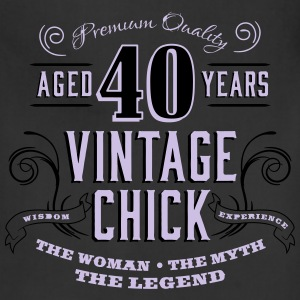 40th Vintage Chick - Adjustable Apron