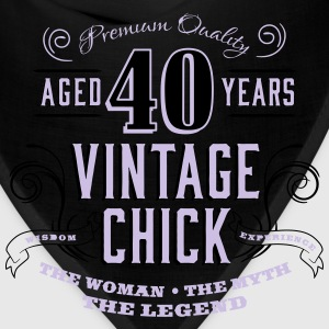 40th Vintage Chick - Bandana