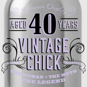 40th Vintage Chick - Water Bottle