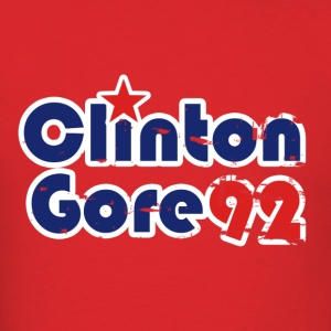 Clinton Gore 1992 retro 90s politics  - Men's T-Shirt