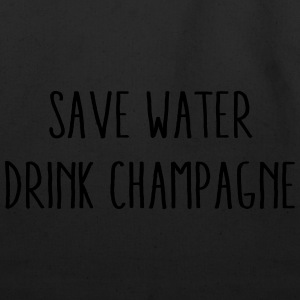 Save Water Drink Champagne T-Shirts - Eco-Friendly Cotton Tote
