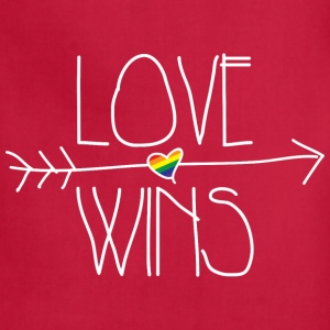 love wins Women's T-Shirts - Adjustable Apron