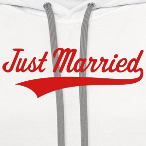 Just Married (Marriage / Wedding) Tanks - Contrast Hoodie