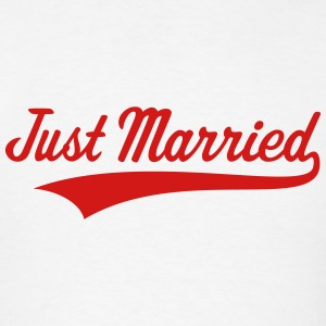 Just Married (Marriage / Wedding) Tanks - Men's T-Shirt