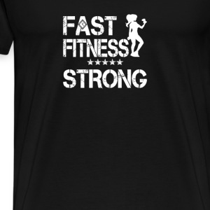 I AM Fast Fitness STRONG! - Men's Premium T-Shirt