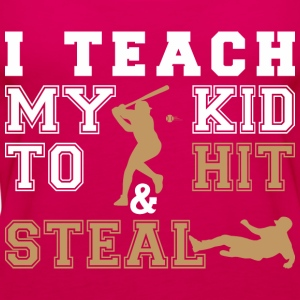 I Teach My Kid To Hit Steal - Women's Premium Tank Top