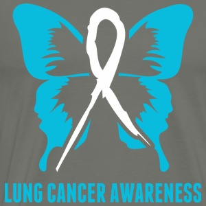 Lung Cancer Awareness - Men's Premium T-Shirt
