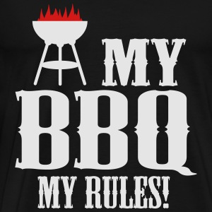 my bbq my rules Long Sleeve Shirts - Men's Premium T-Shirt
