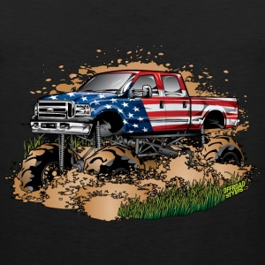 Mega Mud Truck USA Kids' Shirts - Men's Premium Tank
