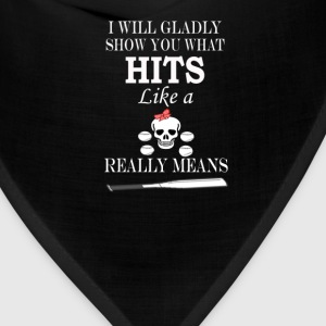 Softball - Hits Like A Girl - Bandana